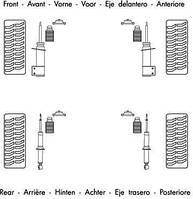 Амортизатор подвески OPEL VECTRA A передний газомасляный ORIGINAL (Monroe). MG247