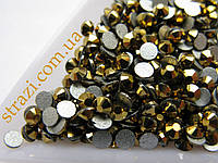 Стразы ss12 Gold, стекло, 100шт. (3.0мм)
