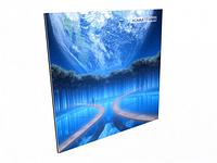 Радиаторы отопления электрические Кам-ин с рисунком 2,8