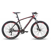 """Велосипед 27,5'' PRIDE XC-650 PRO 1.0 рама - 17"""" черно-красный матовый 2016"""