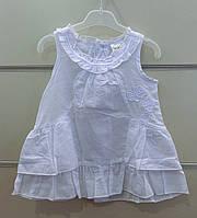 Сарафан белый для новорожденной девочки. Размеры 62