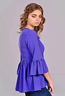 Молодёжная фиолетовая туника модного дизайна