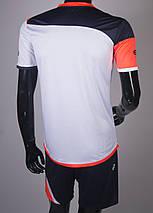 Футбольная форма Europaw 008 бело-коралловая, фото 3