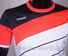 Футбольная форма Europaw 008 бело-коралловая, фото 2