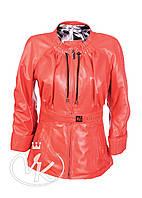 Красная кожаная куртка (размер М), фото 1