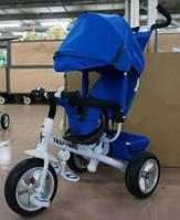 Велосипед трехколесный TILLY Trike T-371 BLUE на бескамерном колесе