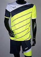 Футбольная форма Europaw 008 салатово-т.синяя
