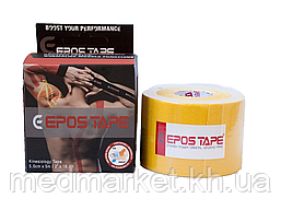 Кинезиологический тейп EPOS TAPE 5м, жёлтый