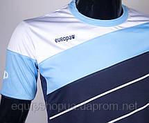 Футбольная форма Europaw 008 т.сине-голубая, фото 2
