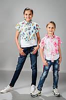Детский летний топ с рубашкой для девочки