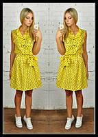 Платье желтое в горох 2 lch