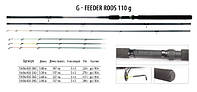 Фидер BratFishing G-Feeder Rods 3.6 m ( до110g) 3 хлыста