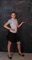 Блузка белая школьная для девочки подростка
