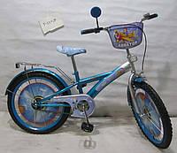 Велосипед TILLY Авиатор 20 T-22024 blue + silver, детский велосипед