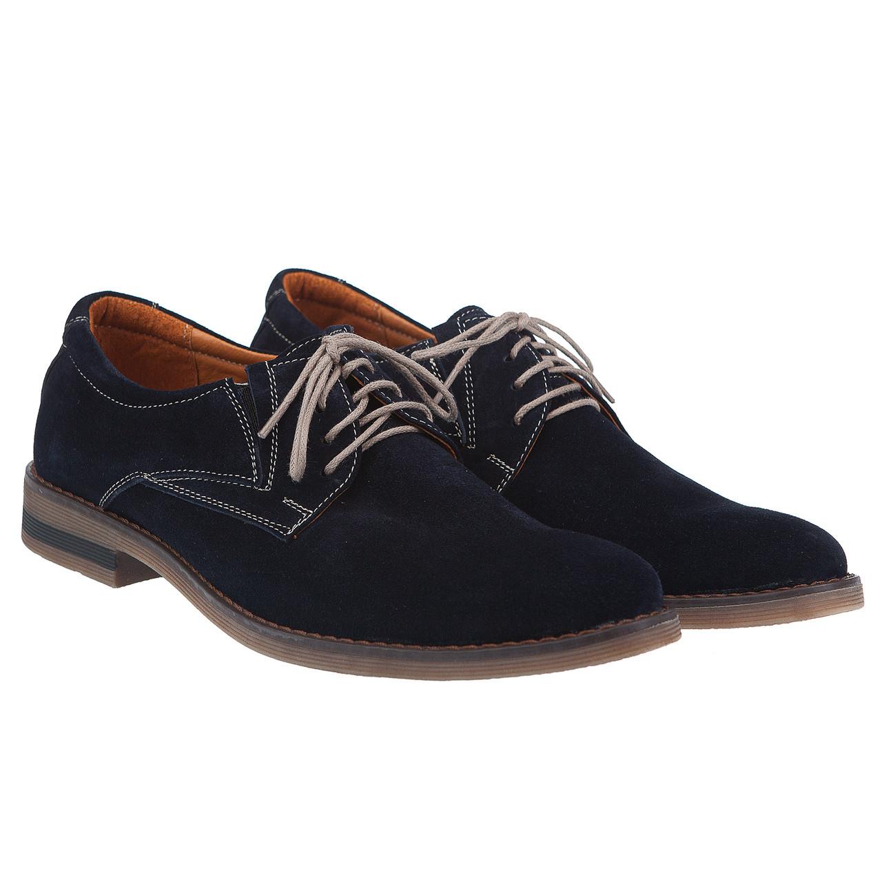 b2b3a5a5c Купить Замшевые мужские туфли синего цвета от Zlett недорого в ...