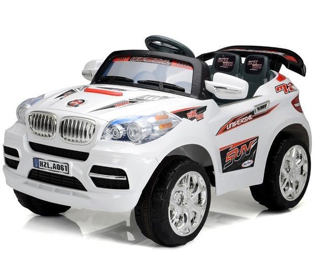 Детский Электромобиль Джип BMW X8 белый на радиоуправлении