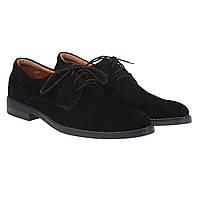 Мужские туфли замшевые черные от Zlett