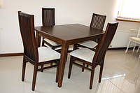 "Стол кухонный из натурального дерева ""Явир 1""  1200(1600)х750"