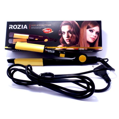 Плойка выпрямитель для волос Rozia HR705 турмалиновый выпрямитель, для закрутки локонов