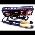 Плойка выпрямитель для волос Rozia HR705 турмалиновый выпрямитель, для закрутки локонов, фото 4