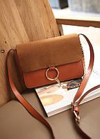 Стильная женская сумка  Chloe Faye bag рыже-коричневого цвета