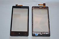 Тачскрин / сенсор (сенсорное стекло) с рамкой для Nokia Lumia 820 (черный цвет)
