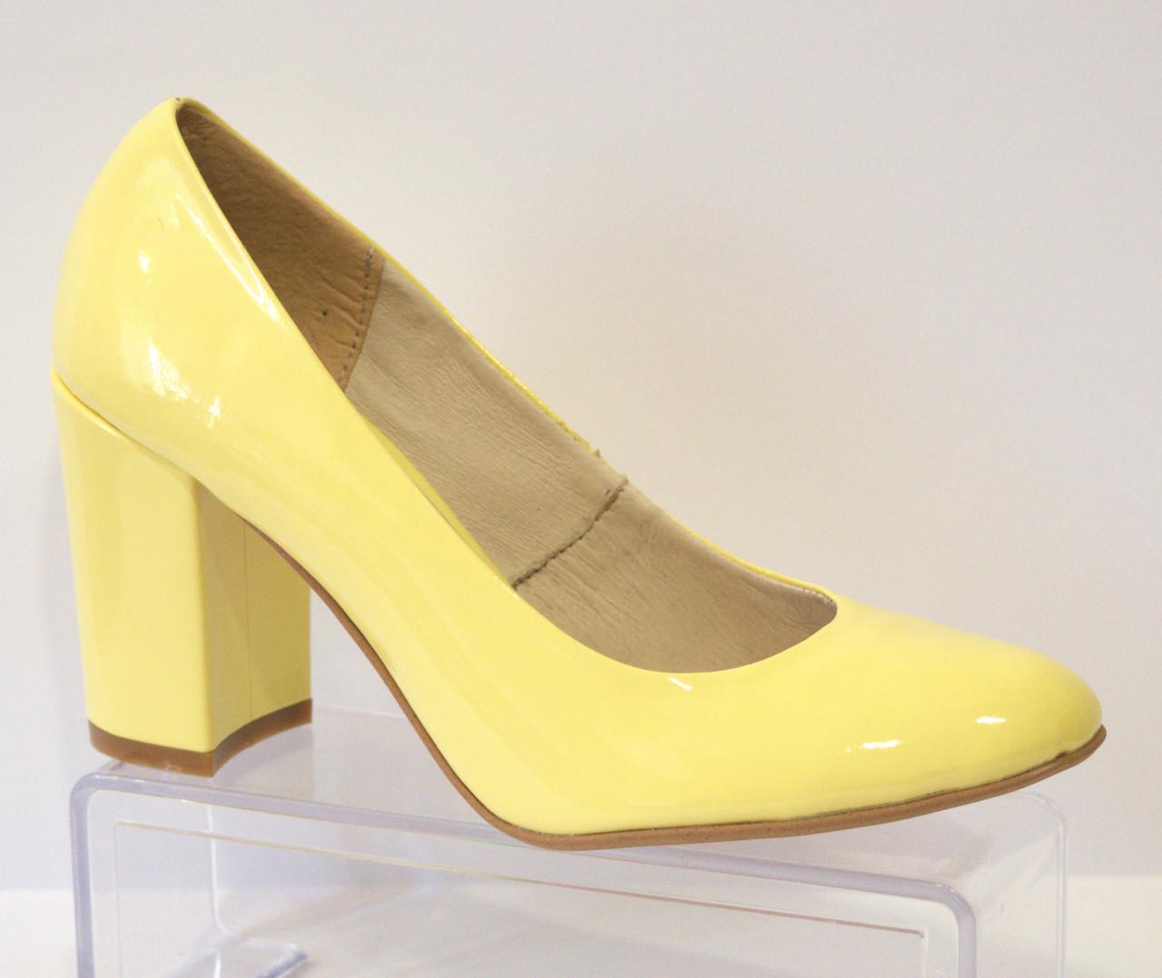 Туфли женские лаковые желтые Nivelle 1527