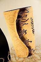 Ваза керамичкская плоская Иероглиф