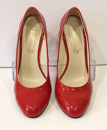 Туфли женские лаковые красные Nivelle 1527, фото 2