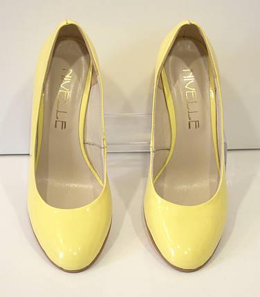 Туфли женские лаковые желтые Nivelle 1527, фото 2