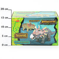 Игрушка динозавр, трицератопс,  арт. 6632-1, на батарейках
