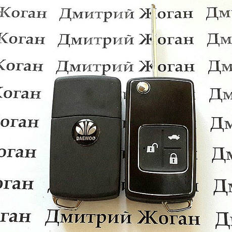 Корпус выкидного ключа для Daewoo Lanos (Дэу Ланос)  3 - кнопки, фото 2
