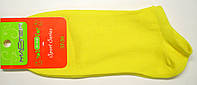 Женские носки короткие лимонного цвета