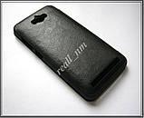 Черный кожаный чехол-книжка Nillkin QIN Flip Cover для Asus Zenfone MAX ZC550KL Z010D Z010DA, фото 3