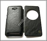 Черный кожаный чехол-книжка Nillkin QIN Flip Cover для Asus Zenfone MAX ZC550KL Z010D Z010DA, фото 5