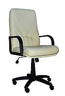[ Кресло Ibiza H-17 + Подарок ] Офисное кресло с пластиковыми подлокотниками эко кожа бежевый