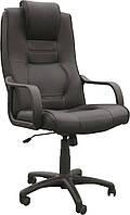 [ Кресло Laguna D-5 + Подарок ] Офисное кресло с пластиковыми подлокотниками эко кожа черный
