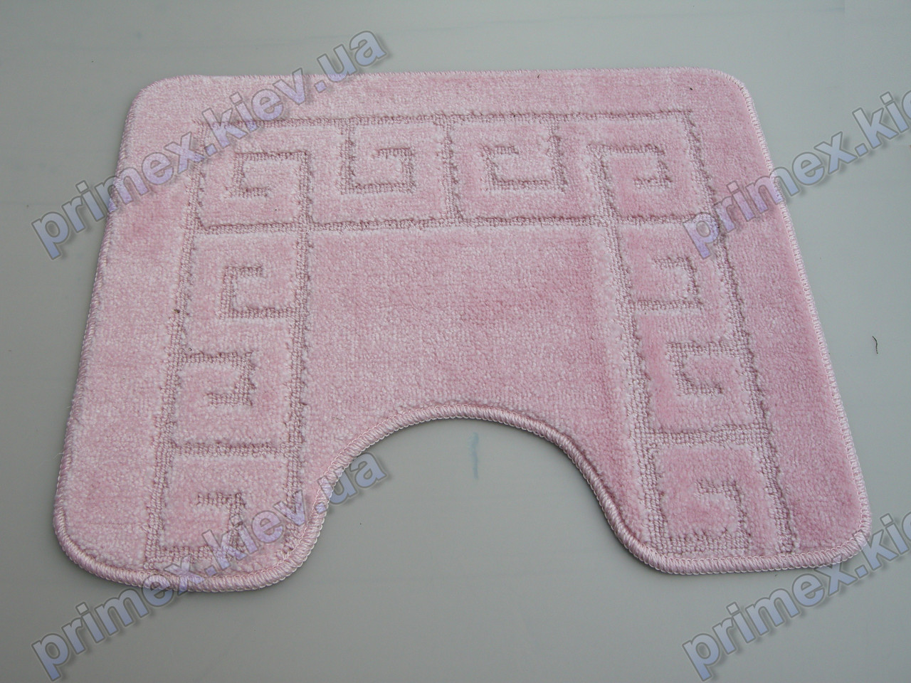 Коврик для туалета, 60х50см. Версаче розовый