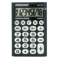 Калькулятор Assistant AC-1116 black (9,3х6,2х1см)