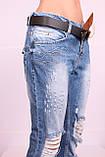 """Женские турецкие рваные джинсы бойфренды """"Red Sold"""" (29 размер ,последний), фото 6"""