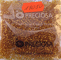 Бисер 10/0, цвет - пшеница, №17050 матовый (уп.50 грамм)