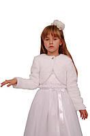 Болеро нарядное меховое для девочек  М-941  рост 98-158, фото 1