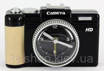 Будильник Фотоапарат (чорний,рожевий,бірюзовий)