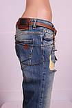 Женские турецкие рваные джинсы бойфренды EuroFashion, фото 3