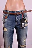 Женские турецкие рваные джинсы бойфренды EuroFashion, фото 5