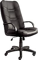 [ Кресло Minister CZ-3 + Подарок ] Офисное кресло с пластиковыми подлокотниками винилис кожа черный