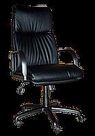 [ Кресло Nadir Extra 1.031 D-5 + Подарок ] Офисное кресло с деревянными подлокотниками эко кожа черный
