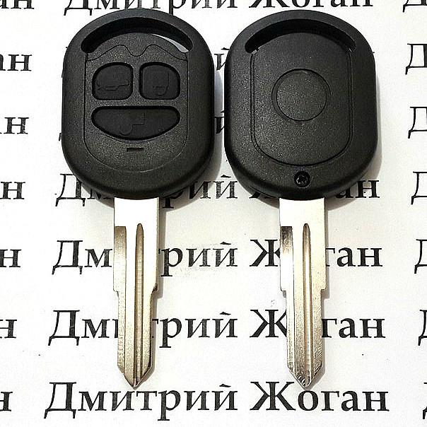 Корпус автоключа Chevrolet Lacetti (Шевролет) 3 кнопки