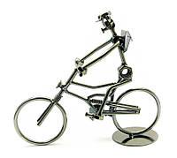 Статуэтка велосипедиста из металла