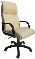 [ Кресло Nadir H-17 + Подарок ] Офисное кресло с деревянными подлокотниками эко кожа светло-бежевый